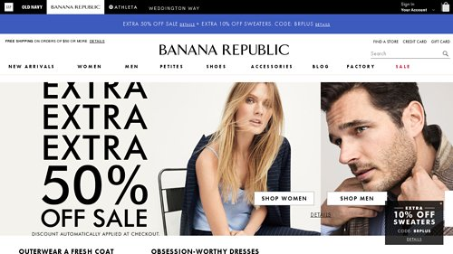 Bananarepublic.gap.com Coupon Codes, Deals & Promotions