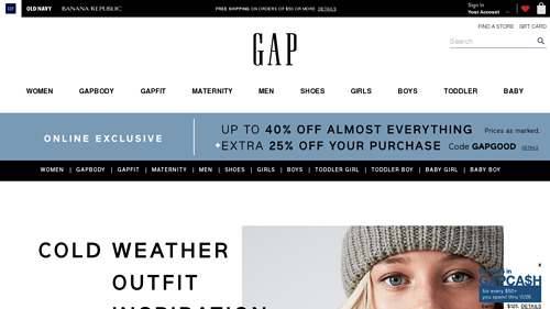 Gapcanada.ca Coupon Codes, Deals & Promotions