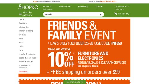 Shopko.com Coupon Codes, Deals & Promotions